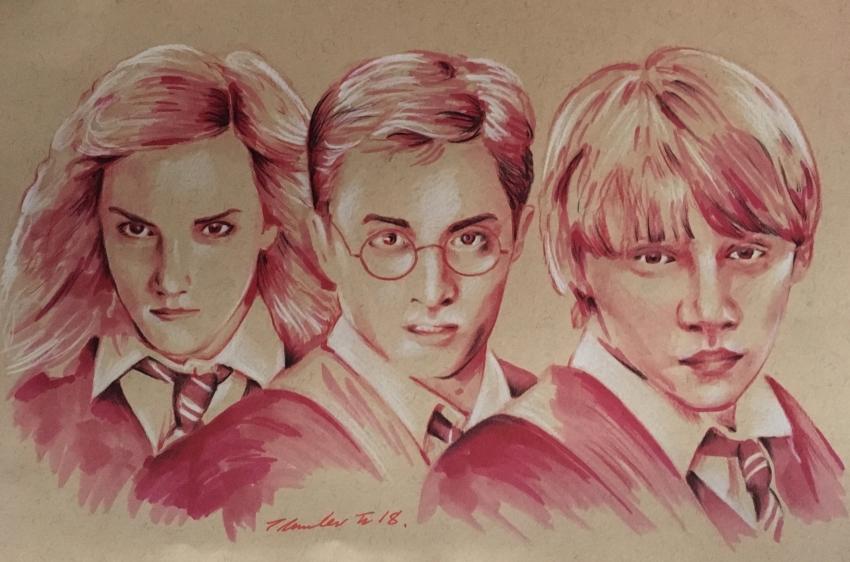 Rupert Grint, Daniel Radcliffe, Emma Watson par TraceyLawler